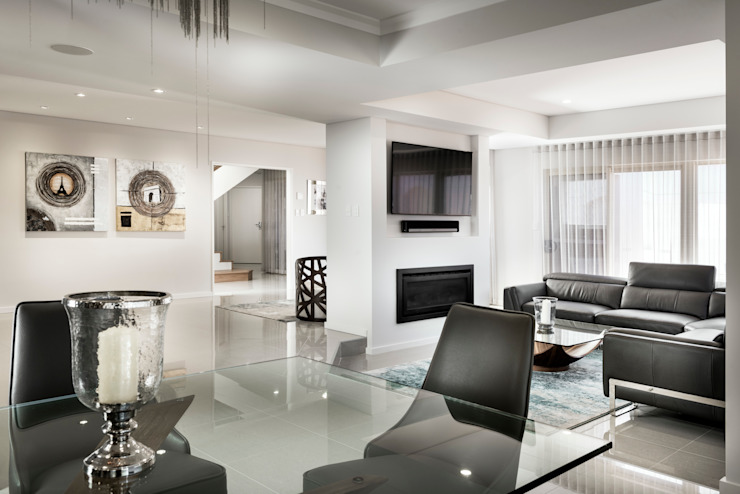 Looking through to the Living Room from Dining Area от Moda Interiors