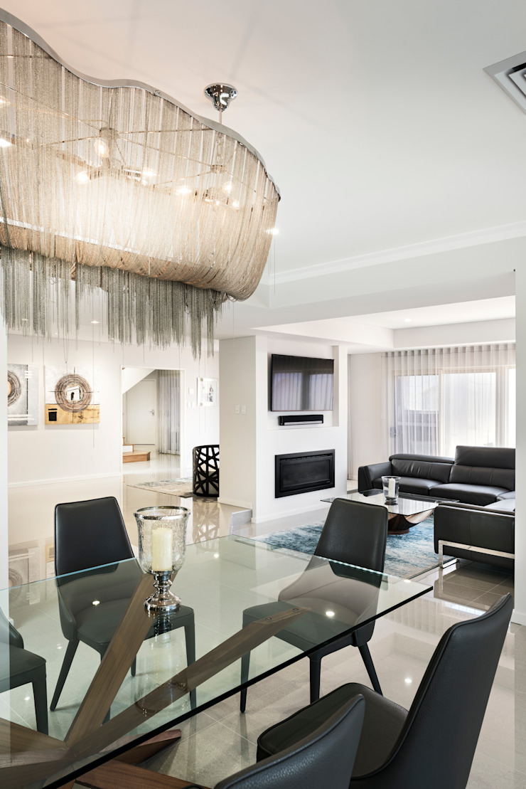 Looking through to the Living Room from Dining Area von Moda Interiors