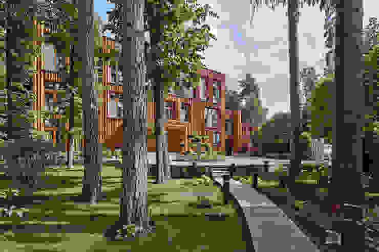 Casas de estilo ecléctico de Архитектурное бюро Бахарев и Партнеры Ecléctico