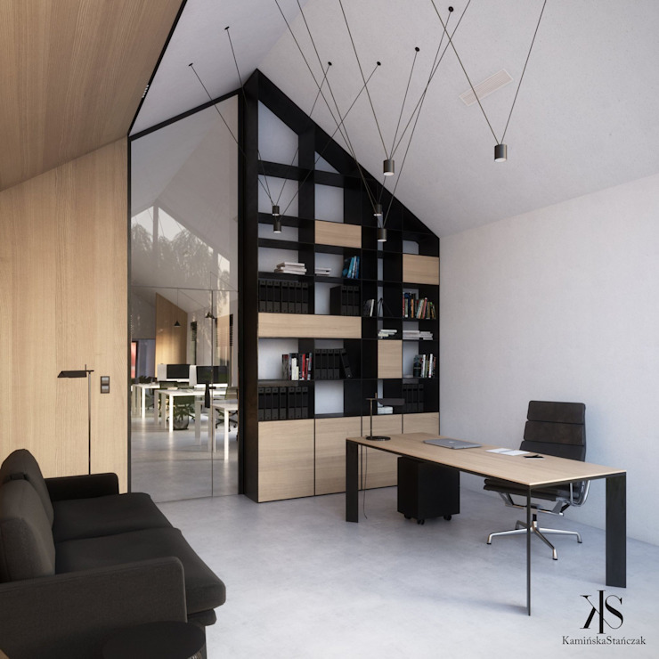 Kamińska Stańczak Oficinas y tiendas de estilo minimalista