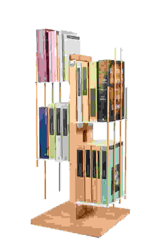 Zia Veronica   Column bookshelf   h 60 cm Le zie di Milano HouseholdHomewares Solid Wood Wood effect