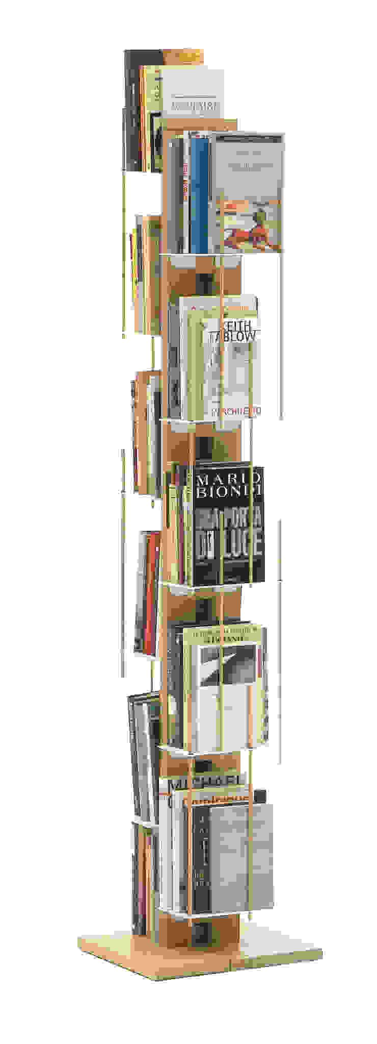 Zia Veronica   Column bookshelf   h 150 cm Le zie di Milano HouseholdHomewares Solid Wood Wood effect