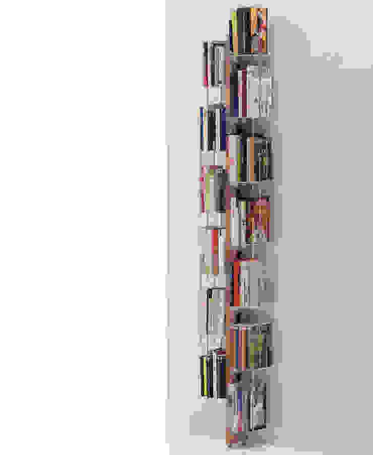 Zia Veronica   Wall bookshelf   h 195 cm Le zie di Milano HouseholdHomewares Solid Wood Wood effect