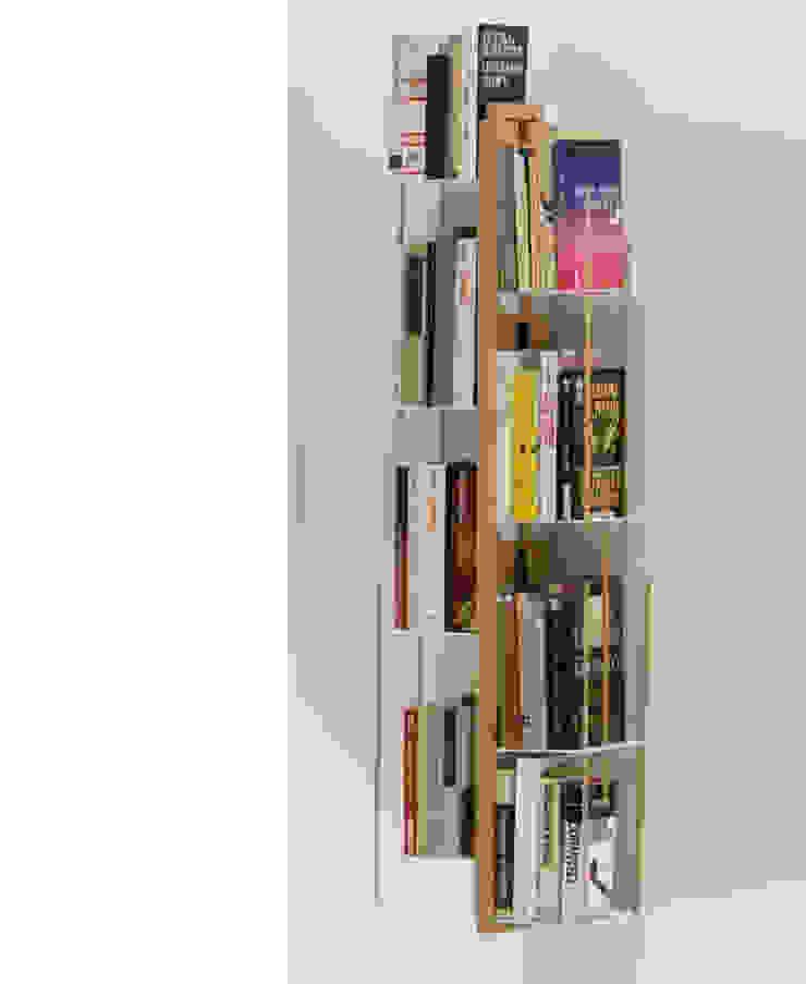 Zia Veronica   Wall hung bookshelf   h 105 Le zie di Milano HouseholdHomewares Solid Wood Wood effect