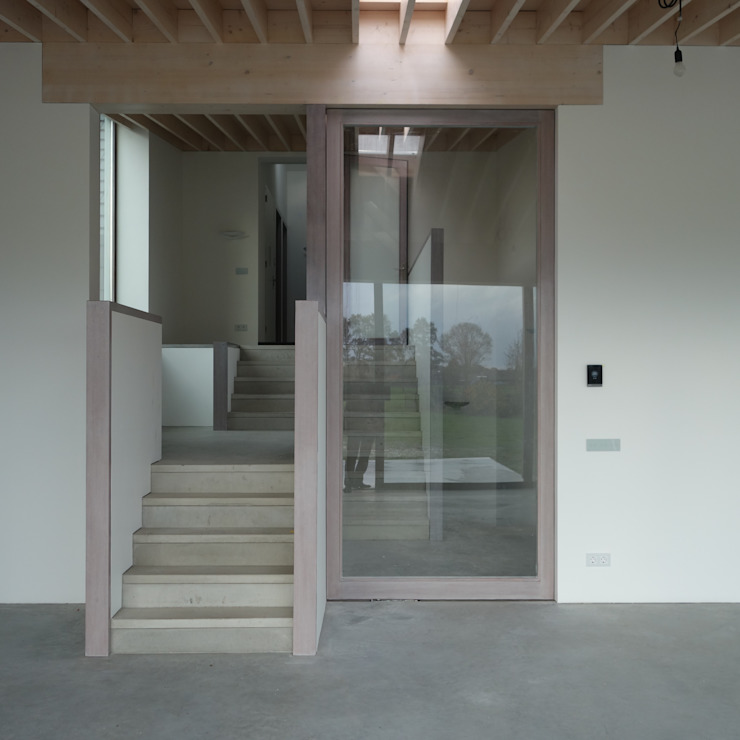 Nieuwbouw woning Staategaard - Tielemans Moderne woonkamers van bv Mathieu Bruls architect Modern