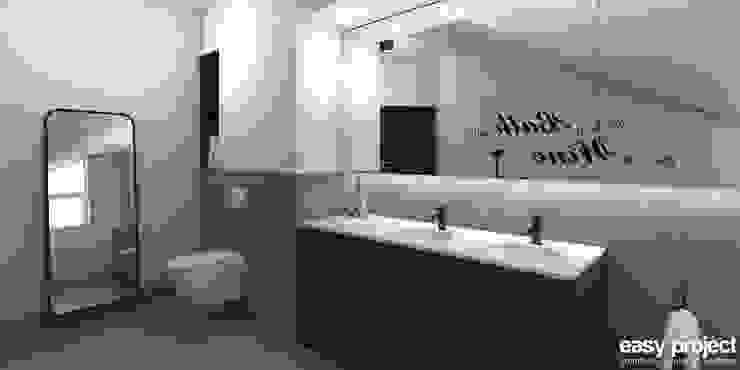 projekt wnętrza łazienki - wizualizacja Minimalistyczna łazienka od easy project Minimalistyczny