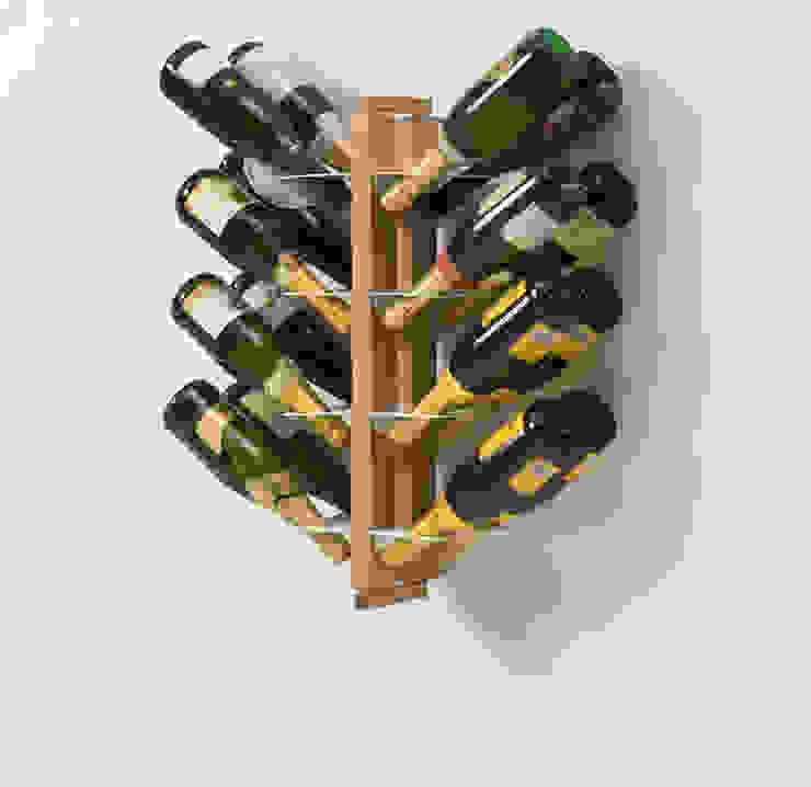 Zia Gaia | portabottiglie doppio sospeso | h 60 cm Le zie di Milano CasaArticoli Casalinghi Legno massello Effetto legno