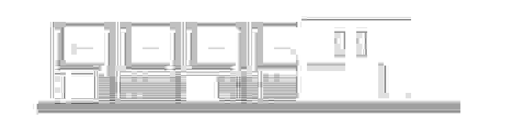 Vista Frontal Casas modernas: Ideas, imágenes y decoración de Poggi Schmit Arquitectura Moderno