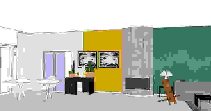 Eetkamer 3D visual Industriële eetkamers van Studio Mind Industrieel