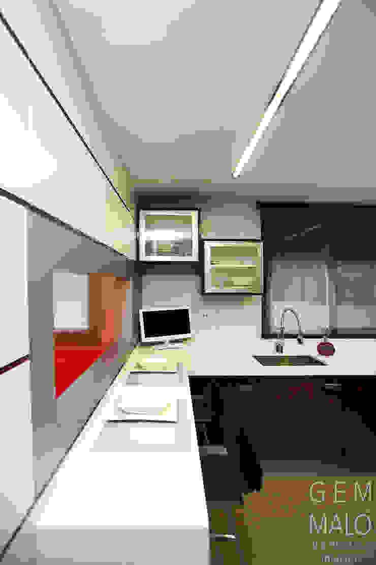Gemmalo arquitectura interior Modern kitchen MDF Purple/Violet