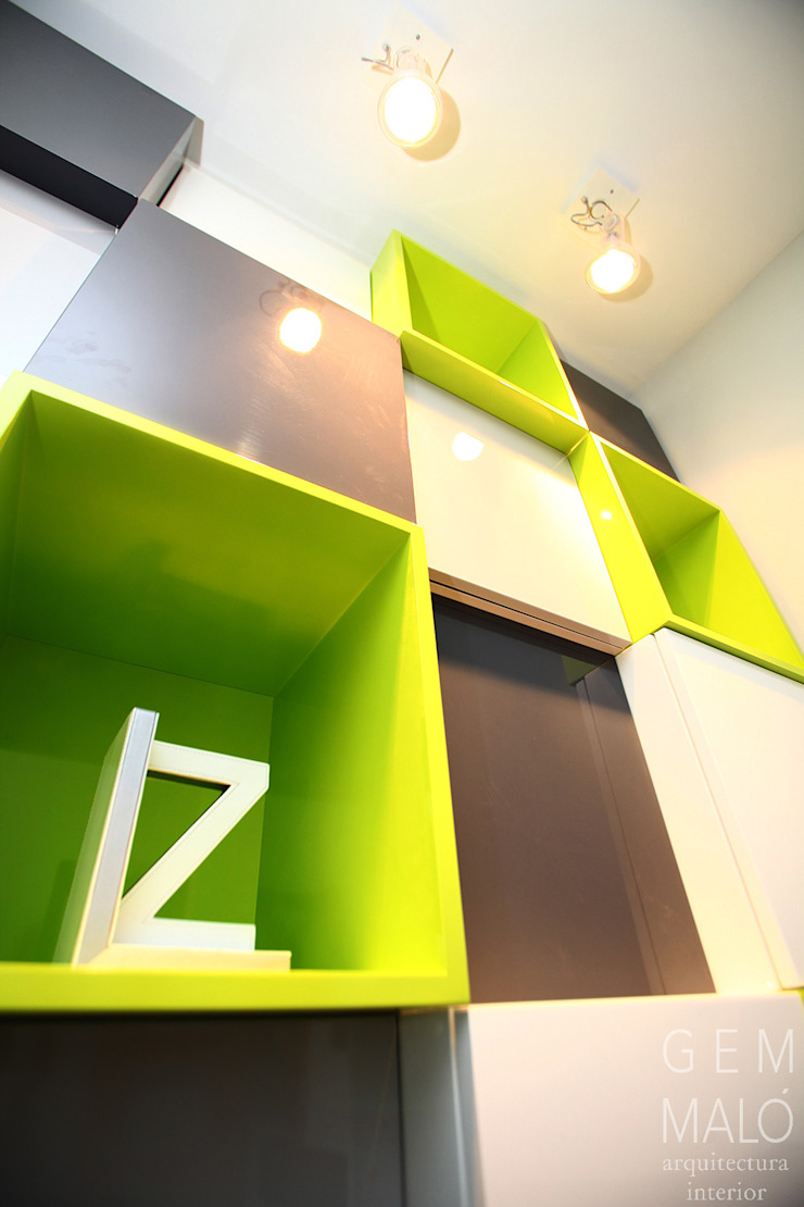Gemmalo arquitectura interior Modern living room MDF Green
