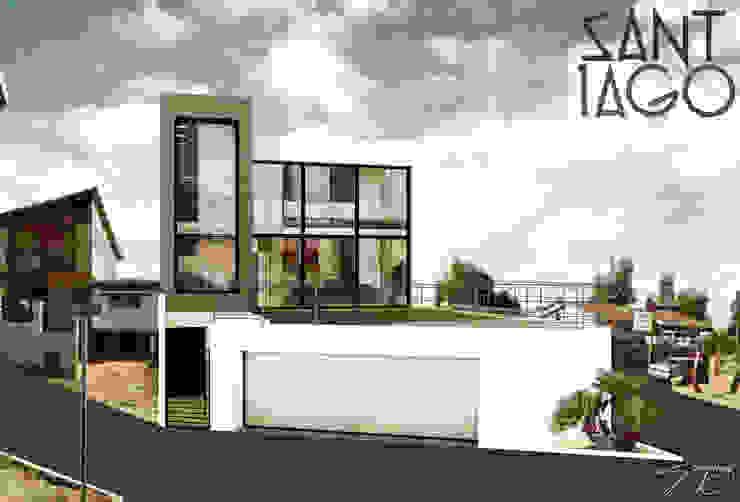 Fachada Principal Casas minimalistas de SANT1AGO arquitectura y diseño Minimalista