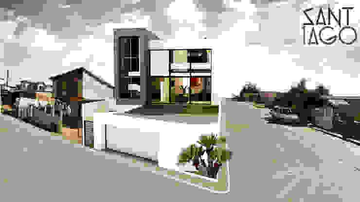 Fachada Principal A' Casas minimalistas de SANT1AGO arquitectura y diseño Minimalista