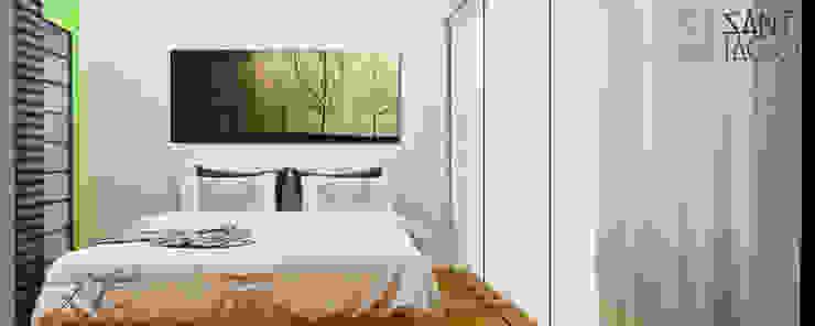 Recamara Principal Dormitorios minimalistas de SANT1AGO arquitectura y diseño Minimalista