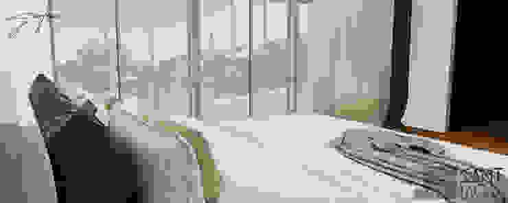 Recamara Principal (vista al exterior Dormitorios minimalistas de SANT1AGO arquitectura y diseño Minimalista