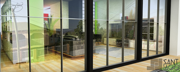 E-Aguilar Salones minimalistas de SANT1AGO arquitectura y diseño Minimalista