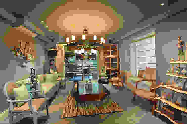 Salon de style  par groupDCA, Moderne
