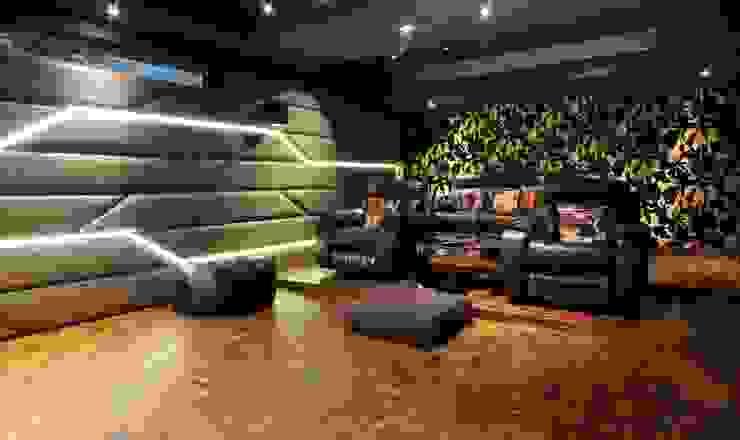 Home Theatre Modern media room by Mind Studio Modern Wood Wood effect