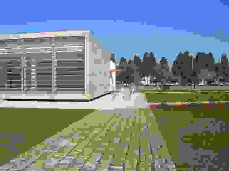 Biblioteca Municipal, Condeixa Paredes e pisos modernos por Amop Moderno