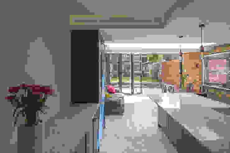 East Dulwich 1 Proctor & Co. Architecture Ltd Modern kitchen Copper/Bronze/Brass Blue
