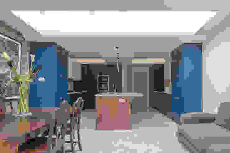 East Dulwich 1 Proctor & Co. Architecture Ltd Modern kitchen Tiles Blue
