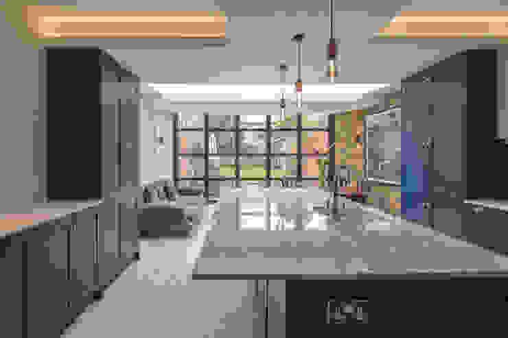 East Dulwich 1 Proctor & Co. Architecture Ltd Industrial style kitchen Tiles Blue