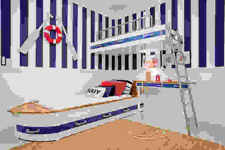 Quarto infantil marinheiro Priscila Koch Arquitetura + Interiores Quarto infantil moderno
