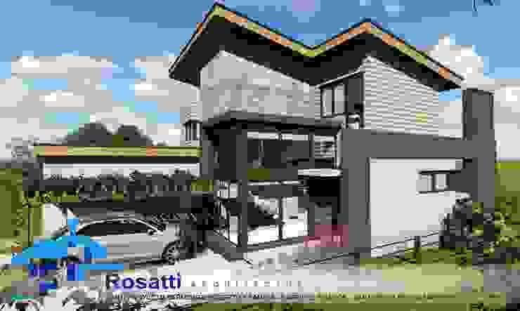 Vivienda SECCATORI – 230m2 – 2 dormitorios – Barrio el Balcón – Santa Rosa de Calamuchita Casas modernas: Ideas, imágenes y decoración de ROSATTI ARQUITECTOS Moderno