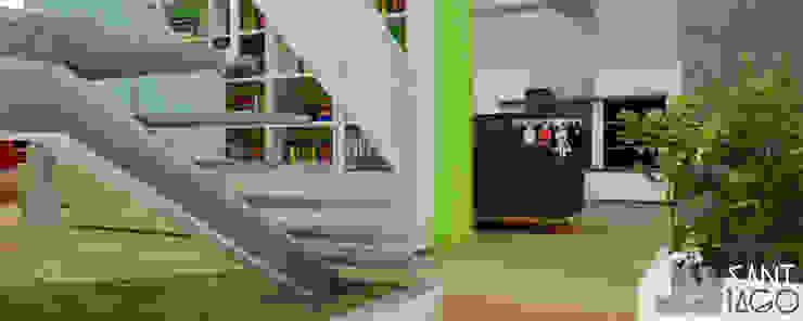E-Aguilar Pasillos, vestíbulos y escaleras minimalistas de SANT1AGO arquitectura y diseño Minimalista