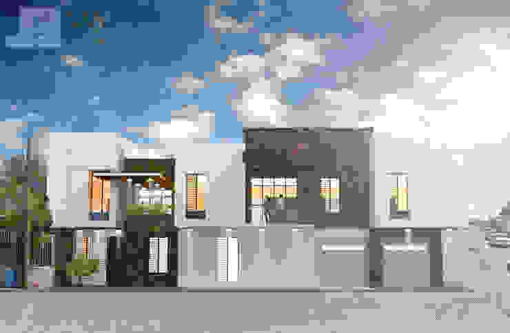 Fachada Oeste Casas minimalistas de SANT1AGO arquitectura y diseño Minimalista
