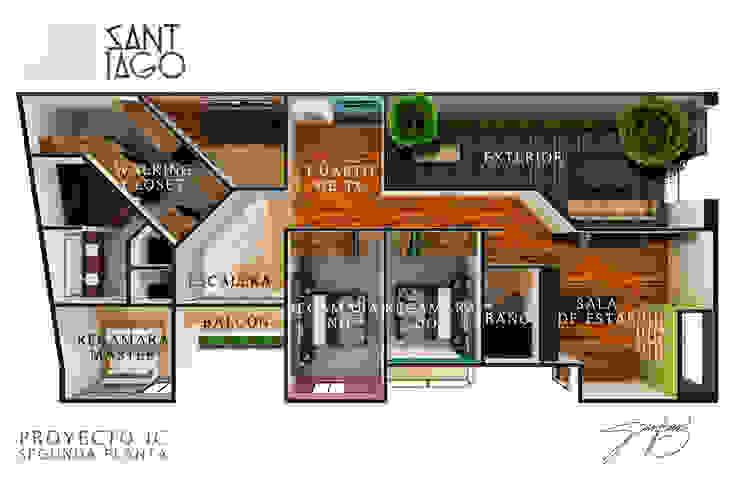 Distribucion de SANT1AGO arquitectura y diseño