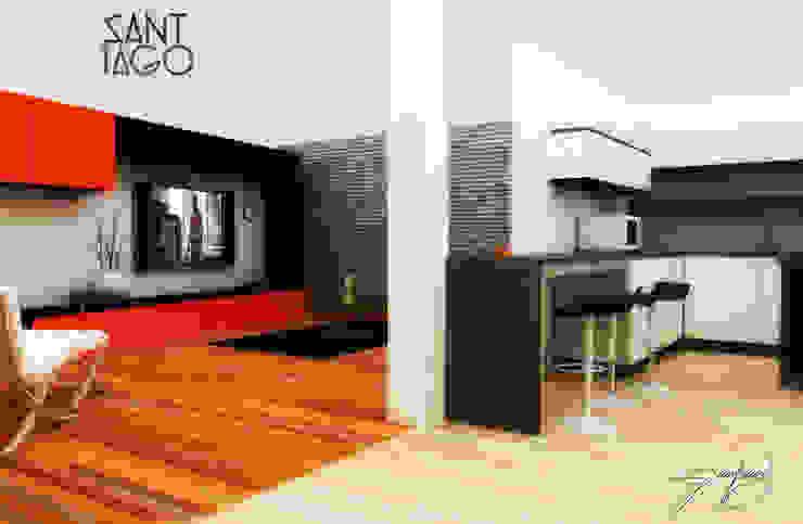 Proyecto Jc Cocinas minimalistas de SANT1AGO arquitectura y diseño Minimalista