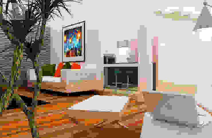 Proyecto Jc Salones minimalistas de SANT1AGO arquitectura y diseño Minimalista