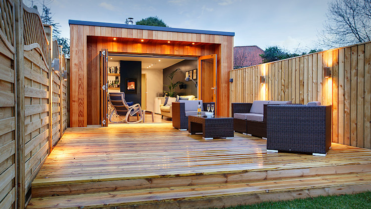 Garden Studio Man cave:   by Samuel Kendall Associates Limited