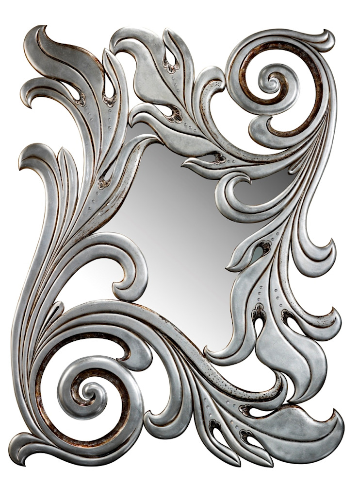 Forest XL mirror:  colonial por Hugobarbosa.com,Colonial Prata/Ouro