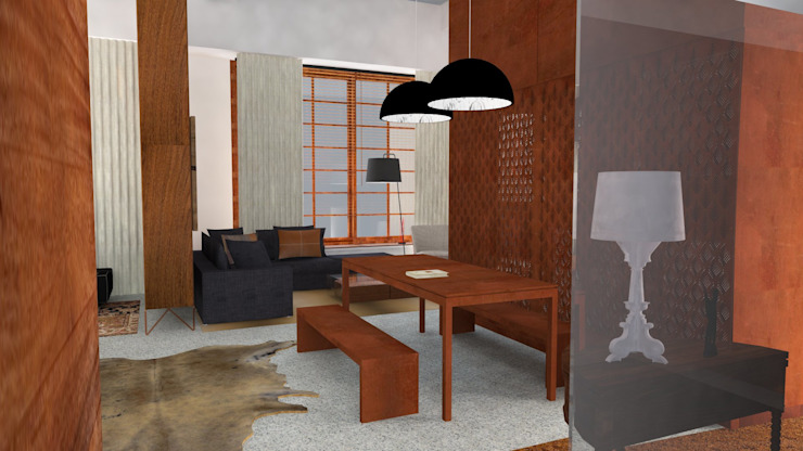 Residence Loft Industrial style living room by IDesign.art by Paula Gouveia Industrial
