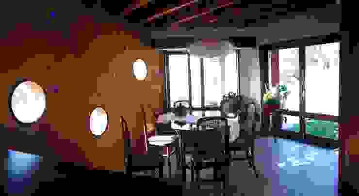 Comedor Comedores de estilo rústico de ALIWEN arquitectura & construcción sustentable - Santiago Rústico