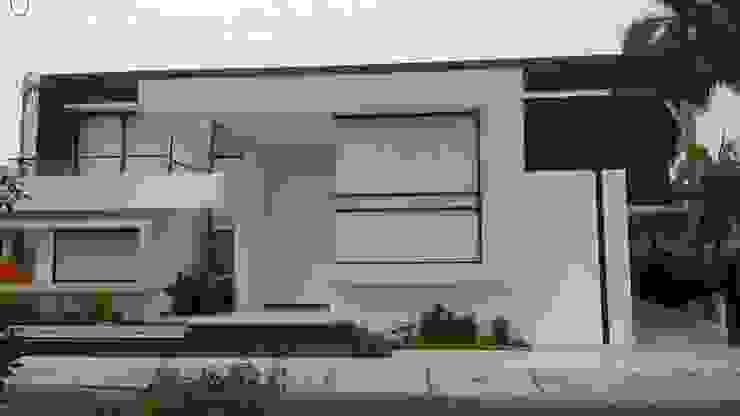 Fachada Principal. Casas modernas: Ideas, imágenes y decoración de homify Moderno Hormigón