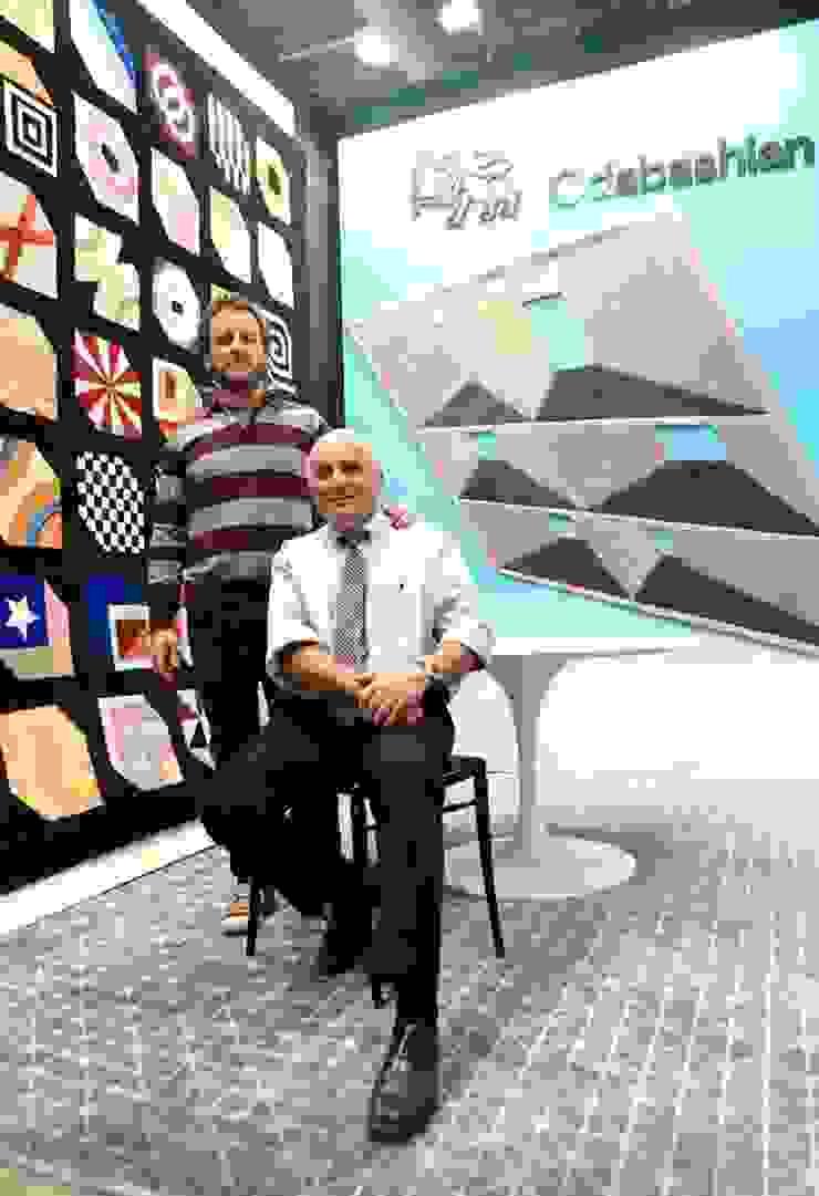 ODABASHIAN LUXURY HANDMADE RUGS BOOTH AT ZONA MACO ART FAIR, 2016 de Elías Arquitectura Moderno