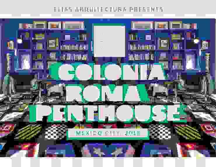 COLONIA ROMA PENTHOUSE. MEXICO CITY, 2016 Salones modernos de Elías Arquitectura Moderno