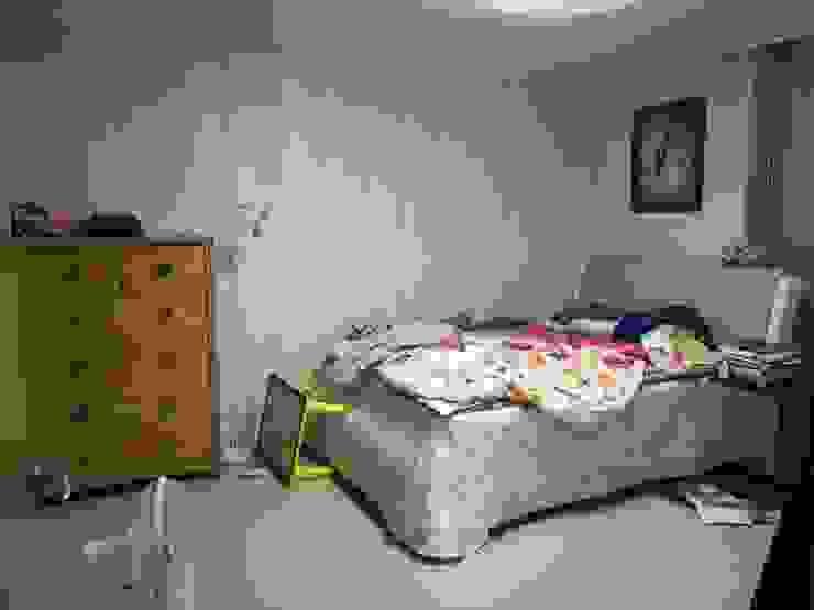 광교 서재형거실 홈스타일링(Kwanggyo APT) Chambre moderne par homelatte Moderne
