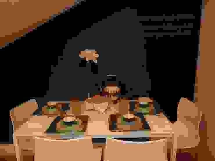 Decoração Caldas Ruang Makan Modern Oleh Obrasdecor Modern