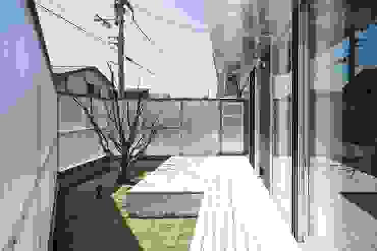 ポリカーボネートのフェンスに囲まれた庭 有限会社 橋本設計室 モダンな庭