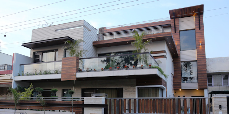 Front Design Modern houses by Aayam Consultants Modern
