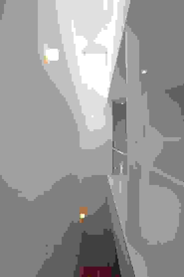 有限会社 橋本設計室 Modern corridor, hallway & stairs