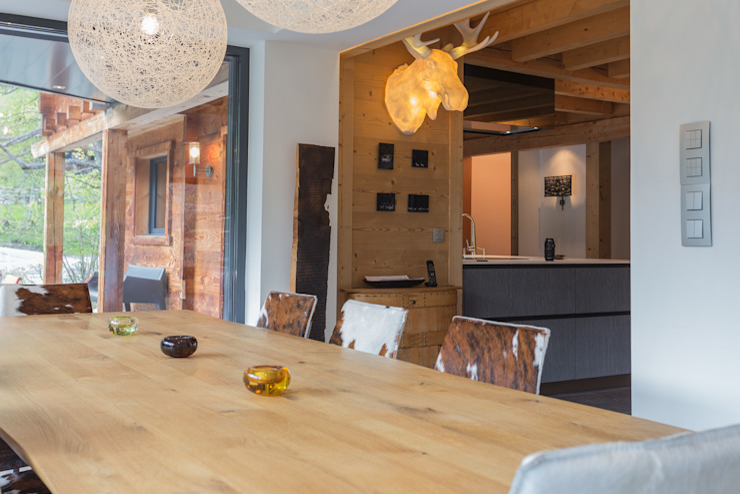 Soleya Salon moderne par Chevallier Architectes Moderne Bois Effet bois