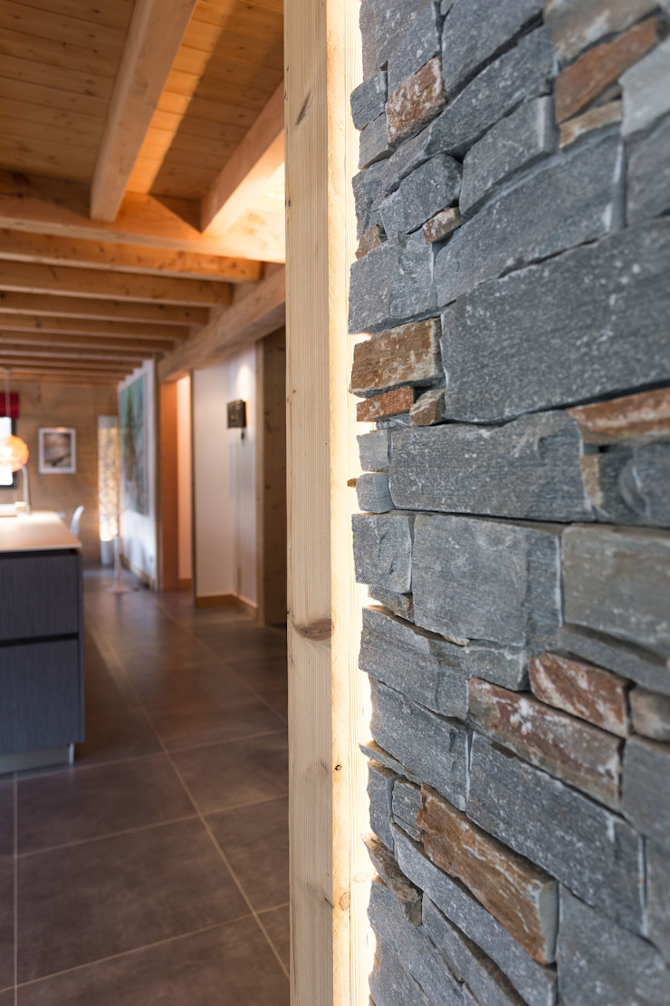 Chevallier Architectes Modern living room Stone