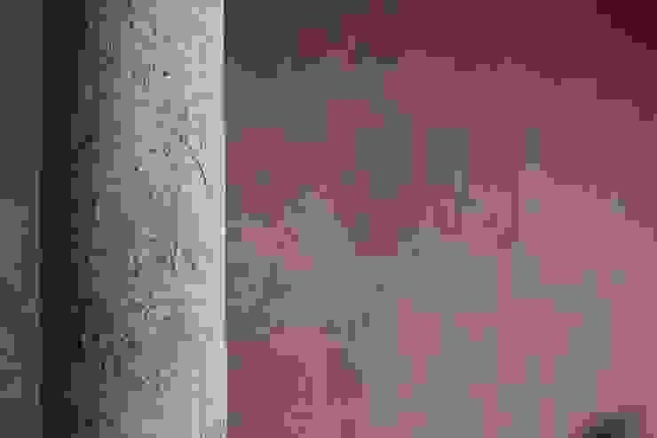 Textura de Paredes Paredes y pisos de estilo rural de ALIWEN arquitectura & construcción sustentable - Santiago Rural