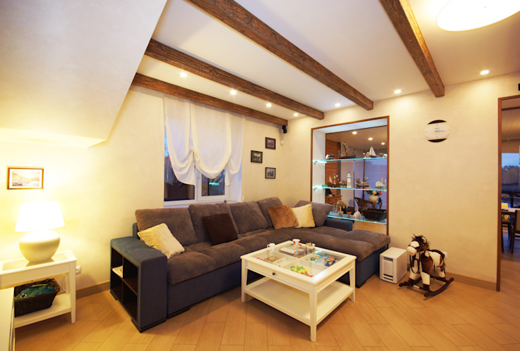 Студия интерьера 'SENSE' Living room Grey