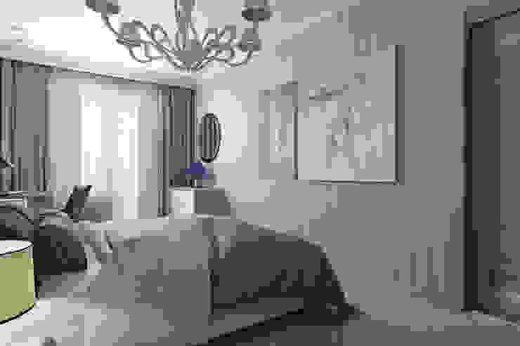 Студия интерьера 'SENSE' Eclectic style bedroom Grey
